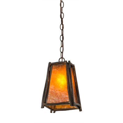 Greenbriar Oak Sticks 1-Light Mini Pendant