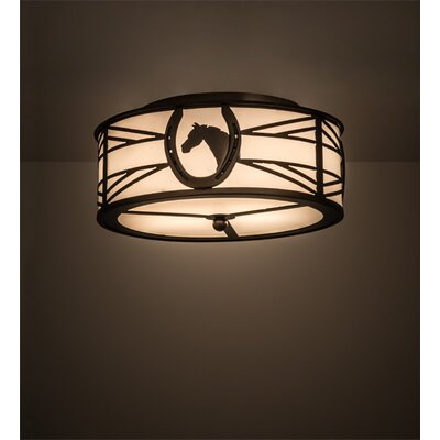 Greenbriar Oak 2-Light Flush Mount