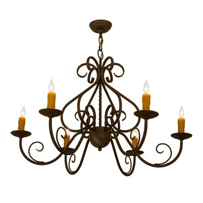 Greenbriar Oak 6-Light Candle-Style Chandelier