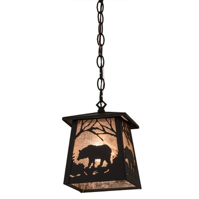 Greenbriar Oak Bear At Dawn 1-Light Mini Pendant