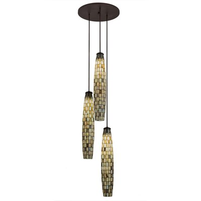 Greenbriar Oak 3-Light Cascading Pendant