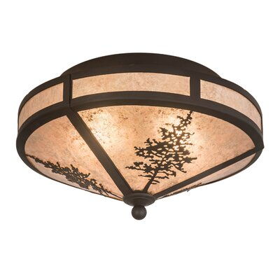 Greenbriar Oak Tamarack 2-Light Semi-Flush Mount