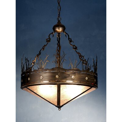 Craftsman Target 4-Light Inverted Pendant