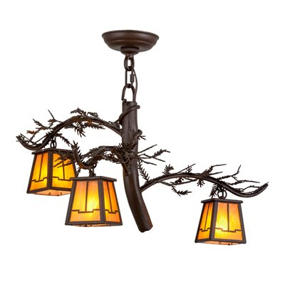 Greenbriar Oak 3-Light Shaded Chandelier