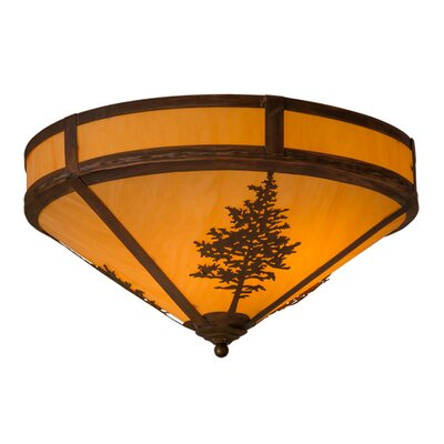 Greenbriar Oak Tamarack 2-Light Flush Mount