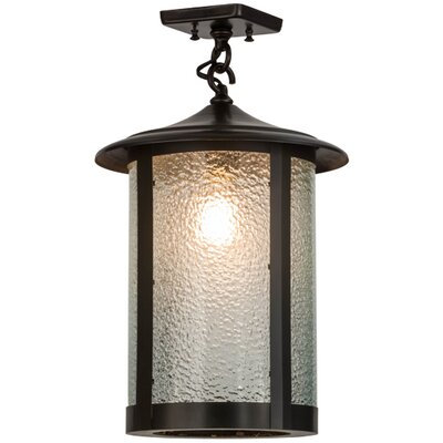 Greenbriar Oak 1-Light Semi-Flush Mount