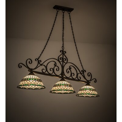 Tiffany Roman 3-Light Kitchen Island Pendant