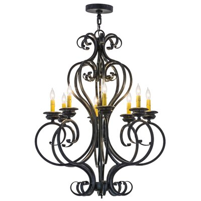 Greenbriar Oak Fernando 8-Light Candle-Style Chandelier