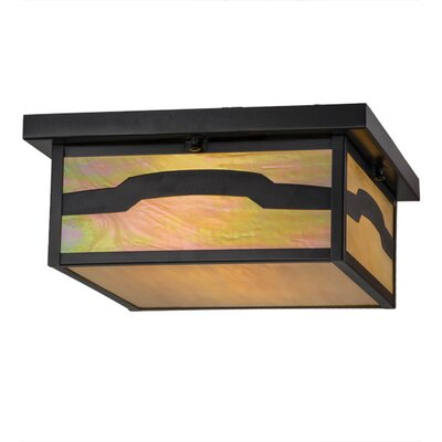 Hyde Park Mountain View 2-Light Flush Mount