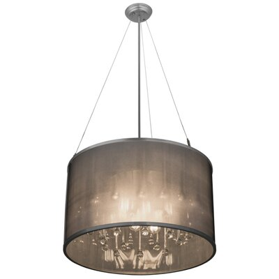 Greenbriar Oak 9-Light Drum Pendant