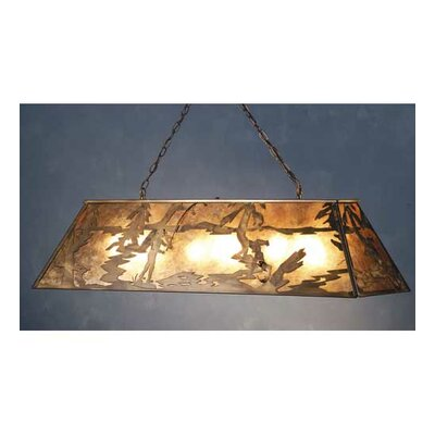 Fly Fishing Creek 9-Light Pool Table Light