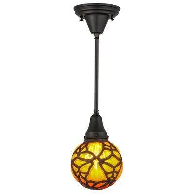 Greenbriar Oak Castle Butterfly Orb 1-Light Mini Pendant