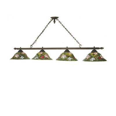 Rose Bush 4-Light Kitchen Island Pendant