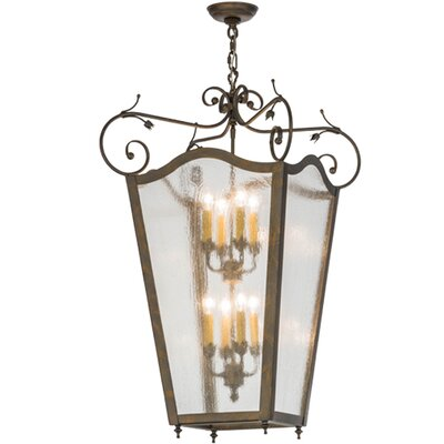 Greenbriar Oak 8-Light Foyer Pendant