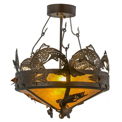 Greenbriar Oak 2-Light Semi-Flush Mount