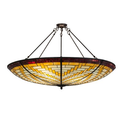 Basket Weave 6-Light Inverted Pendant