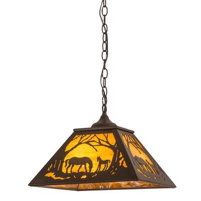 Greenbriar Oak 2-Light Mini Pendant
