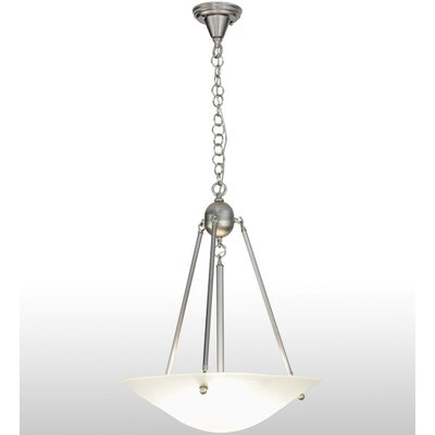 Greenbriar Oak 3-Light Inverted Pendant