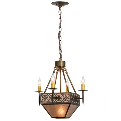 Greenbriar Oak 4-Light Candle Pendant