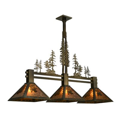 Greenbriar Oak 3-Light Kitchen Island Pendant