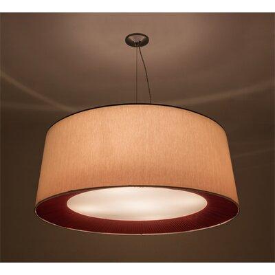 Greenbriar Oak 5-Light Drum Pendant Size: 264 H x 52 W x 52 D