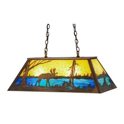 Moose at Lake 6-Light Pendant