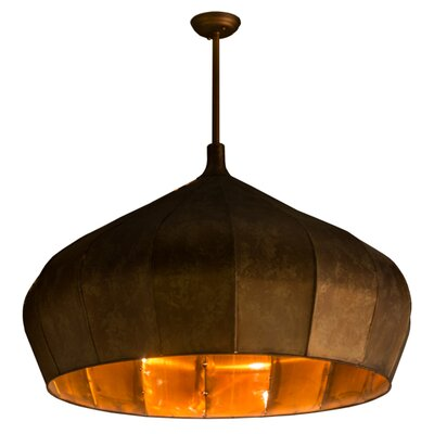 Greenbriar Oak1-Light Inverted Pendant