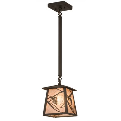 Greenbriar Oak Whispering Pines 1-Light Mini Pendant