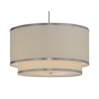 Greenbriar Oak 6-Light Drum Pendant Size: 71 H x 37 W x 37 D
