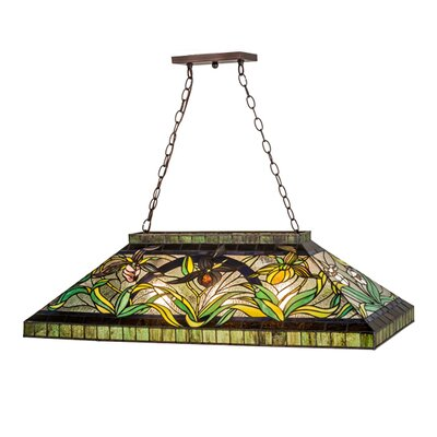 Lady Slippers 3-Light Kitchen Island Pendant