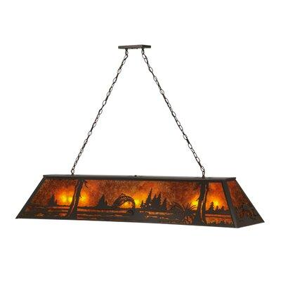 Greenbriar Oak 9-Light Pool Table Light