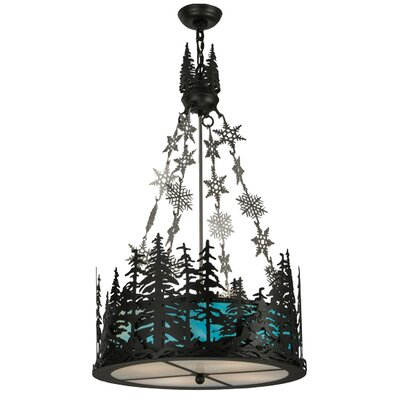 Greenbriar Oak Alpine 4-Light Inverted Pendant