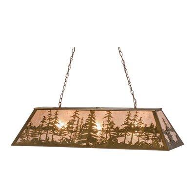 Greenbriar Oak Tall Pines 3-Light Pendant