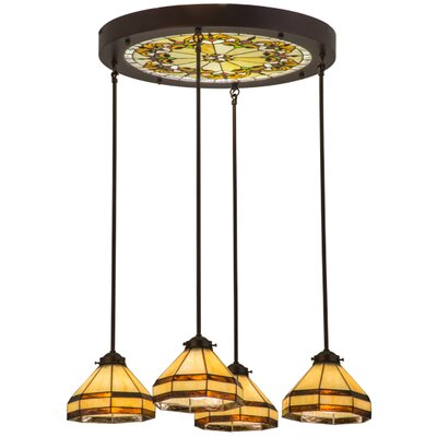 Greenbriar Oak 4-Light Cascade Pendant