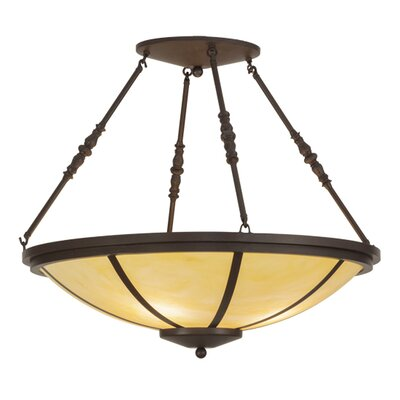 Greenbriar Oak 4-Light Semi-Flush Mount