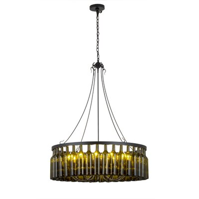 Greenbriar Oak 12-Light Drum Chandelier