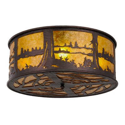 Greenbriar Oak 4-Light Flush Mount