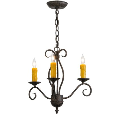 Greenbriar Oak 3-Light Candle-Style Chandelier