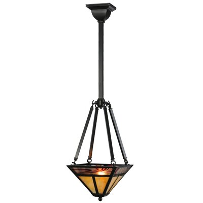 Greenbriar Oak T Mission Inverted 1-Light Mini Pendant