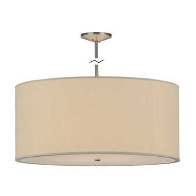 Greenbriar Oak 6-Light Drum Pendant