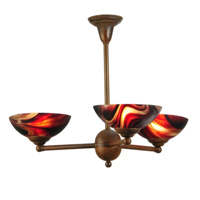 Greenbriar Oak 3-Light Semi Flush Mount