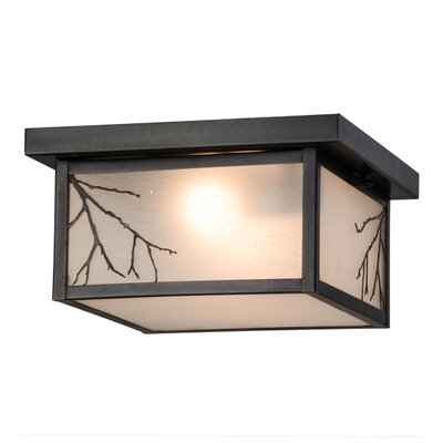 Greenbriar Oak Hyde Park Branches 2-Light Flush Mount