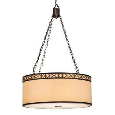 Greenbriar 8-Light Drum Pendant Size: 72 H x 30 W x 30 D