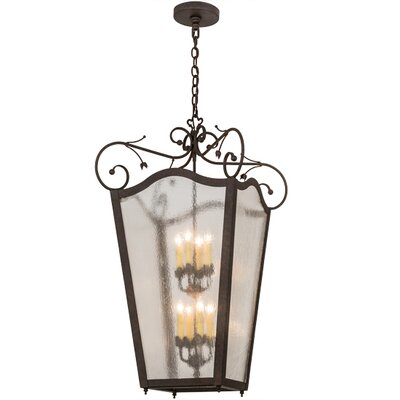 Greenbriar Oak 8-Light Foyer Pendant