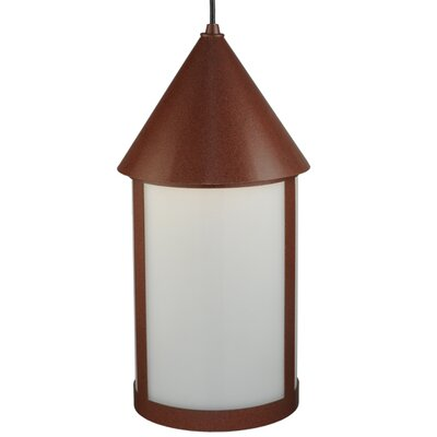 Greenbriar 1-Light Mini Pendant Shade Color: White