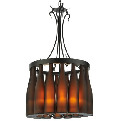 Greenbriar Oak 5-Light Drum Chandelier