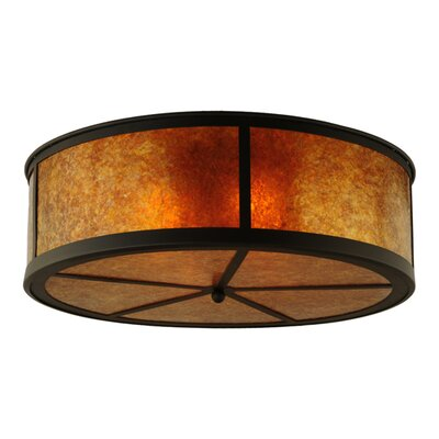Greenbriar Oak Smythe Craftsman 4-Light Flush Mount