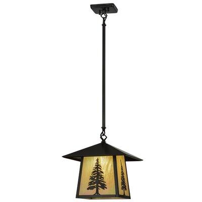 Greenbriar Oak Stillwater Tall Pine 1-Light Mini Pendant