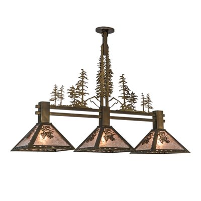 Greenbriar Oak 3-Light Kitchen Island Pendant