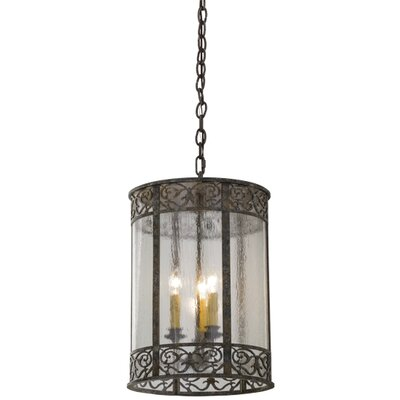 Greenbriar Oak 3-Light Foyer Pendant